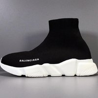 Wholesale autumn run boots resale online - New stylist Speed socks Casual Shoes black white fashion Trainers Runner Triple Black Boots Red Flat heavy sole sneakers