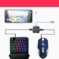 Wholesale hands free keyboard for sale - Group buy new G30 one hand keyboard manipulator RGB wired gaming keyboard set Gaming Keyboard Combos