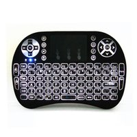 2.4G Wireless Backlit Keyboard Mini Rii i8 With Backlight Game TouchPad Air Mouse For Mini-PC Tablet Android tv box