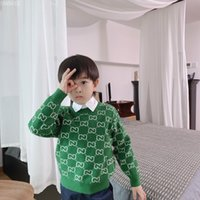 Wholesale kids clothing pants jumpers for sale - Group buy Two Colors Winter Baby Girls boys Sweaters Autumn Boys Greend Knitted Pullover Clothes pants Kids Soft Sweater Children s Clothing
