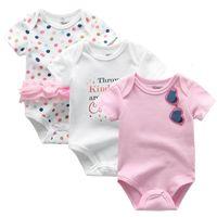 Wholesale newborn baby boy bodysuits resale online - Baby bodysuits Summer Clothes Baby Boy short Sleeves Cartoon Bodysuit New Newborn Girl Climbing Pajama