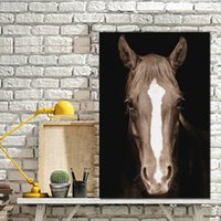 Wholesale horse art paintings piece for sale - Group buy Modular Canvas HD Prints Wall Art Pieces Pictures Wild Horse Head Painting Home Decor Modern Poster For Living Room Framework