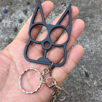 Wholesale boys weapon toys for sale - Group buy New Cat keychain Ring Buckle Self Defense Key Chain Weapon Toy Model Outdoor Tool Fashion Christmas Gift Animal Design Charm Keyrings Holder
