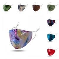 Wholesale personality masks resale online - Washable Face Mask Reusable Mascherine Serpentines Respirators Colorful Personality Fashion Adjustable Women and men qya E2