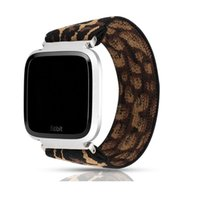 Wholesale nylon cord strap resale online - Elastic Cord Printing Nylon Straps Hair Kind Bands Smart Watch Wearable Replaceable Watchband Suitable for Fitbit Versa Versa Lite Wristband