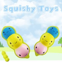 Wholesale pod peas for sale - Group buy Jumbo Soft Peas Pods Slow Rebound Squishy Decompression Toy Charm Squishies Simulation Food For Kid Toys Gift