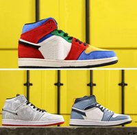 Wholesale basket sports resale online - Facetasm x s Mid Fearless Womens Mens basketball shoes Blue The Great Sports Sneakers CLOT Trainers baskets des Chaussures