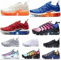 Wholesale plus size mens shoes for sale - Group buy 2020 TN plus se running shoes mens White black Hyper Psychic blue deluxe D Glasses Breathable fashion sports sneakers trainers size