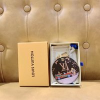Wholesale 2 colors Fashion Brand keyring Handmade Leather Stainless Steel Car Key chain Women Bag Charm Pendant keychains with box S110