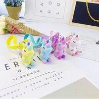 Wholesale 3d keychains resale online - PVC Three dimensional Soft Rubber Keychain Dream Cartoon Animal Customization Creative D Doll Animal Bag Pendant EEA1861