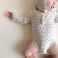 Wholesale girls cotton camisole resale online - 2020 Spring Newborn Baby Girl Clothing Beautiful Cotton Camisole And Long Sleeve Floral Bodysuits New Born Baby Clothes Onesie