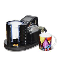 New 11oz pneumatic heat press machine mug automatic sublimation printing machine with large Liquid Crystal Control Panel