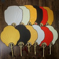 Wholesale paper fans for weddings resale online - Vintage Hand Held Fan Traditional Craft Bamboo Handle Chinese Fan Decorative DIY Rice Paper Fans for Wedding Fine Art Painting Programs