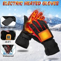 Wholesale hand gloves heat resale online - Heating Gloves Battery Type Carbon Fiber Heating Gloves Battery Box Electric Ski Motorcycle Heated Winter Hand Warm Glove