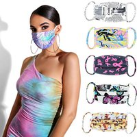 Wholesale flowers borders for sale - Group buy Tie dye Face Mask Butterfly Leaves Flowers D Printed Mouth Masks Anti Dust and Haze Cross border Breathable Designer Masks IIA355
