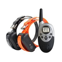 Wholesale pet trainer shock collar for sale - Group buy Waterproof Rechargeable Dog Trainer No Barking Remote Electric Shock Vibration Remote Pet Dog Training Collar Control for Dogs