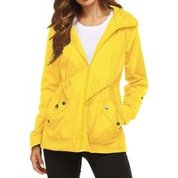 Wholesale yellow running jacket resale online - Running Jackets Outdoor Sports Quick Dry Hooded Jacket Windcoat Woman And Men Rain Jacket Waterproof Hooded Lightweight Raincoat