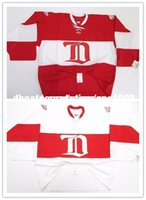 Wholesale goalie jersey resale online - Cheap custom DETROIT RED WINGS White RED WINTER CLASSIC ALUMNI CCM JERSEY GOALIE CUT Stitched Personalize any number name