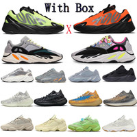 Wholesale runners mens shoes resale online - Kanye West Runner Reflective TPU Cushioning Running Shoes Womens Mens Carbon Teal Blue Static Black White Grey Sneakers With Box