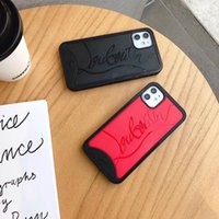 Wholesale iphone dirt free cases for sale – best Red sole designer l iphone cases for iphone Pro Max XR plus xs max fashion Models phone cover