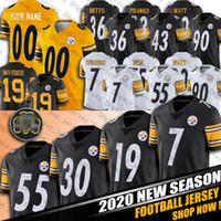 Wholesale 7 Ben Roethlisberger James Conner Jersey JuJu Smith Schuster Devin Bush Minkah Fitzpatrick Jerseys Pittsburgh Steelers Jerseys