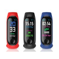 Wholesale red bands for exercise resale online - M3 Smart Watch Bracelet SleepTracker Step Counter Heart Rate Blood Pressure Health Exercise Tracker m3 Sport Wristbands Band For All people