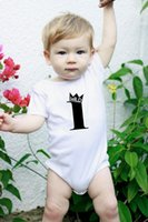 Wholesale baby clothing new design resale online - Wild One Birthday New Design Cotton Short Sleeve Baby Bodysuit Baby Boys Girls Clothes Funny Baby Girls Cloth M Babe Onesie
