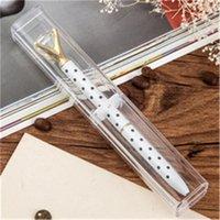 15*2.5*2.5cm Plastic Clear Ballpoint Pen Gift Box Pencil Boxes Empty Bulk Case Collection Set for Business School