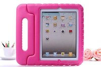 Wholesale kids eva foam handle case resale online - Kids Safe Portable Shockproof EVA Foam Handle Stand Case for ipad