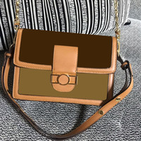 Wholesale bamboo chains for sale - Group buy 3A Designer Luxury Handbags Purses Women Shoulder bag Genuine Leather with Houndstooth Fabric Cross Body Saddle Handbag High Quality Bag
