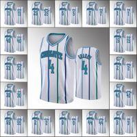 Wholesale charlotte gold resale online - Charlotte Hornets Men Devonte Graham Miles Bridges Kemba Walker NBA Anniversary Swingman White Custom Jersey