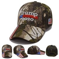 Wholesale designer baseball hats for men resale online - 2020 Trump Hats Camouflage Donald Baseball Cap USA President Election Sunshade Hat Snapback In Stock For Men Women sx H1