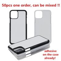 Wholesale apple sheets resale online - 10pcs Mixed orders for D Sublimation Blank Phone Case Hard PC for iPhone Xs Xr Xs Max Back Housing with Aluminum Sheet