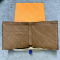 wallets mens Cash wallet purses multicolor coin credit card holder pocket zippy short paris plaid style man genuine leather with Box fold Mezzanine