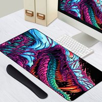 xl pad  venda por atacado-Jogo 900x400mm Hiper Besta XL Grande Bloqueio de Borda Gaming Mouse Pad CS GO teclado de borracha Mousepad descanso de pulso Table Computer Mat T200619