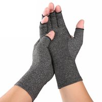 Wholesale compression glove resale online - 1 Pair Compression Gloves Wrist Support Cotton Joint Pain Relief Hand Brace Women Men Therapy Wristband Breathable Comfortable