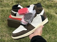 Wholesale mens home shoes resale online - Comfort High OG Travis Scotts Basketball shoes s top Homage To Home Brown Mens Sport Designer Sneakers Trainers