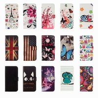 Wholesale eiffel tower cases online – custom UK USA Flag Flower Butterfly Eiffel Tower owl Leather Wallet Case for Samsung S20 PLUS Ultra A21S M31 A31 A51 A71 G A70E A41 A11 A21 A81