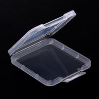 Wholesale memory plastic resale online - Memory Card Case Box Protective Case CF SD Card Tool Plastic Transparent Storage Box Protection Case Card Container IIA337