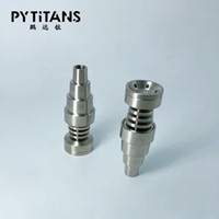 Wholesale adjustable pipe fittings for sale - Group buy Fully Adjustable Titanium Nails in fit for mm Female and male joint glass pipe parts Domeless Titanium Nail Carb Factory Price