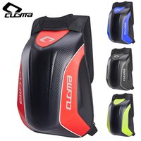 New Reflective Motorcycle Hard Shell Backpack Carbon Fiber Pattern Armor Backpack Motorcycle Helmet Backpack cycling bags