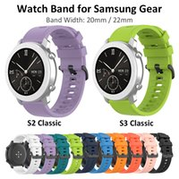 20mm 22mm Silicone Strap Bracelet for Samsung Galaxy Watch 42 46mm Gear S2 S3 Classic Active 2 40 44mm Sport Rubber Band