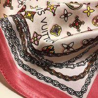 Wholesale silk polyester square hijab resale online - cm Big Size Women Satin Square Scarf Polyester Silk Scarves Flower Shawl Hijab Fashion Sunscreen Shawls