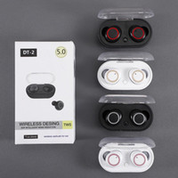Wholesale retail box for bluetooth earphones resale online - DT TWS Bluetooth Earphones Mini Earbuds Wireless Headphones Stereo Sound Sports Headset for Cellphone with Retail Box