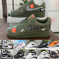 Wholesale Sale New Design Forces Men Low Skateboard Shoes Cheap One Unisex Knit Euro Air High Women All White Black Red Sise HIL