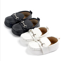 Wholesale Leather baby boy shoes infant sneaker shoes newborn first walker soft soled toddler footwears for year babys