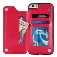 Wholesale fine iphone online – custom Fine material PU leather Wallet phone Case for iPhone G Multi Card Holders Phone Cases for iPhone G