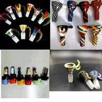Wholesale 18mm male bowl piece for sale - Group buy New Arrived Colorful mm bowl and mm glass bowl Male Joint Handle Beautiful Slide bowl piece smoking Accessories
