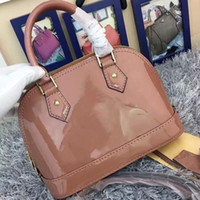 Wholesale blue patent leather handbag for sale - Group buy Classic Shell Bag Damier Patent Leather Grid Bags Handbags Shoulder Bags Women Canvas Crossbody Purse Shopping Tote
