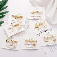Wholesale hair clip for summer resale online - New Shell Conch Hairclips For Women Korea Fashion Luxury Pearl Hair Clips Braided Wedding Hairwear Girl Summer Hairgrips